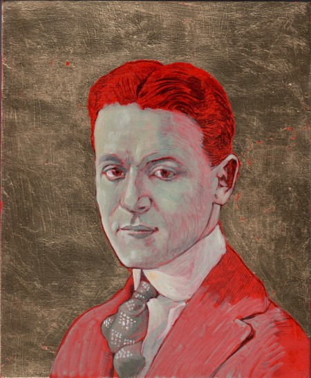 "Tommaso Pincio ""Sfera celeste 22 (Francis Scott Fitzgerald)"" 2013 varia materia su tavola cm 24 x 20"
