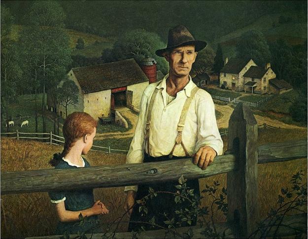 N.C. Wyeth «Night Fall» (1945)